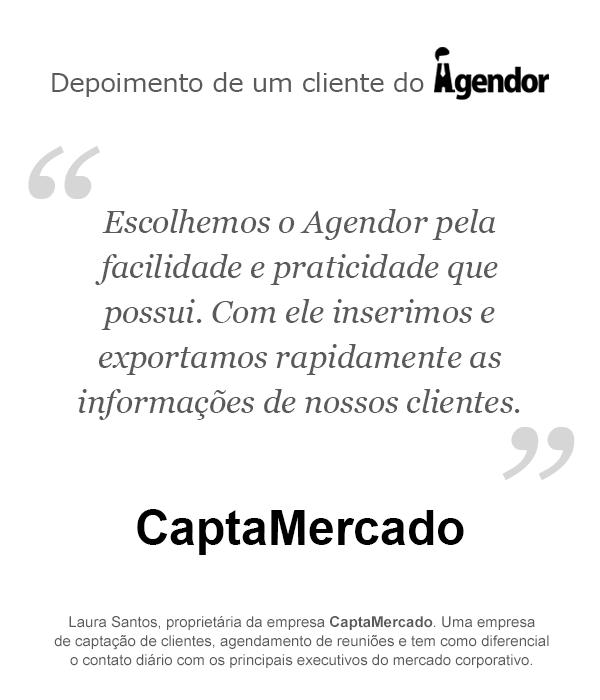 Depoimento de um cliente do Agendor: CaptaMercado