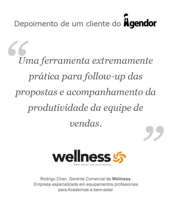 Depoimento de um cliente do Agendor: Wellness