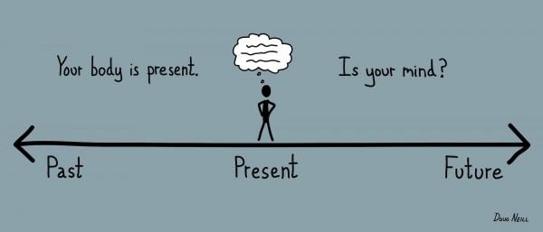 Faça uma coisa de cada vez. Sua mente e seu corpo precisam estar no mesmo lugar.
