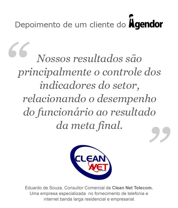 Depoimento de um cliente do Agendor: Clean Net Telecom