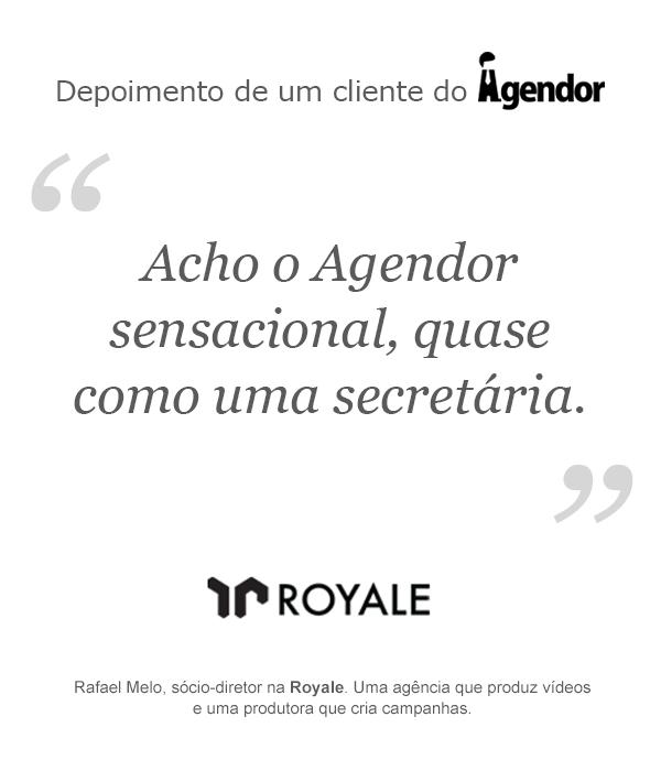 Depoimento de um cliente do Agendor: Royale
