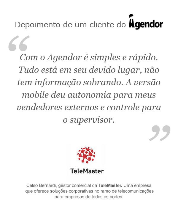 Depoimento de um cliente do Agendor: TeleMaster
