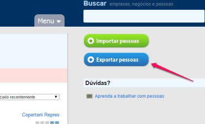 Agendor botão exportar