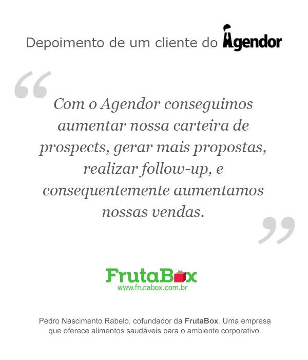 Depoimento de um cliente do Agendor: FrutaBox