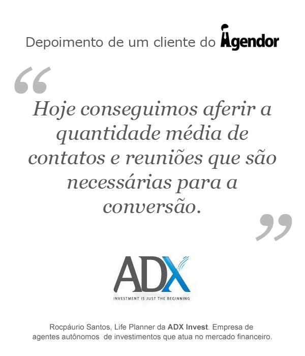 Depoimento de um cliente do Agendor: ADX Invest