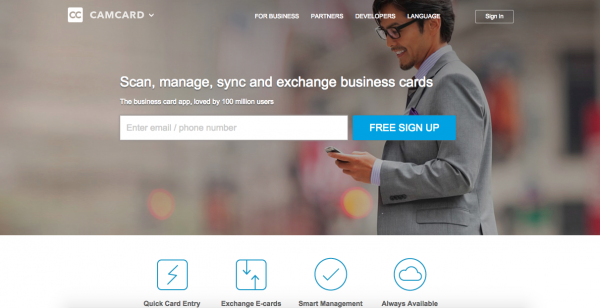 CamCard ajuda você a transformar seus cartões de visita em contatos.