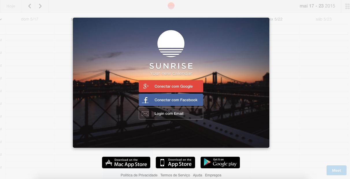 O Sunrise Calendar é uma maneira inteligente de sincronizar calendários de dispositivos diferentes em um mesmo aplicativo.