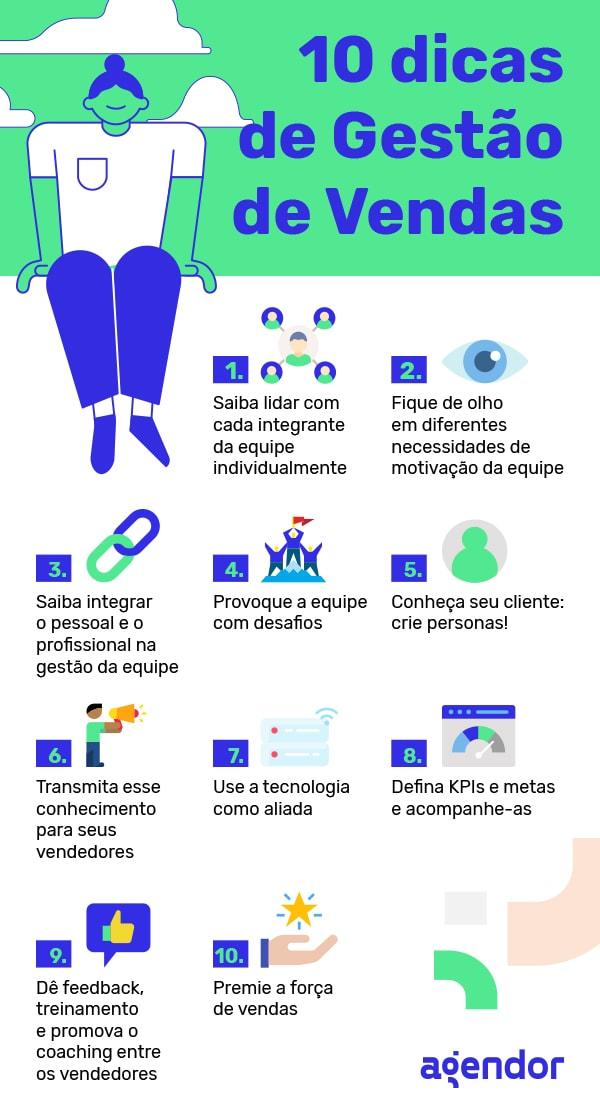 10 dicas de gestão de vendas