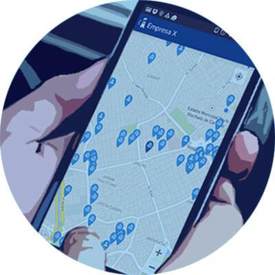 mapa de clientes