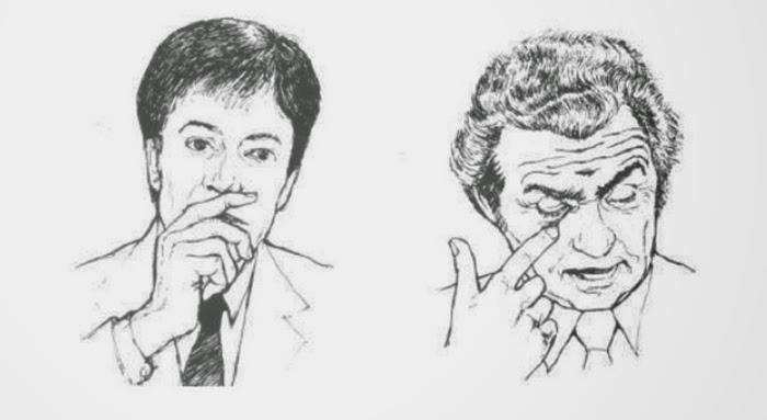 linguagem corporal boca