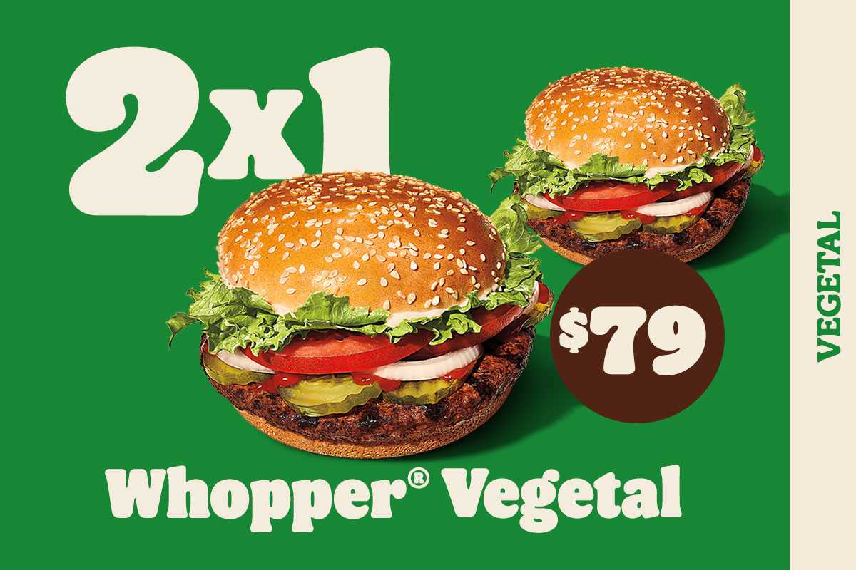 Whopper Vegetal ALC 2x1