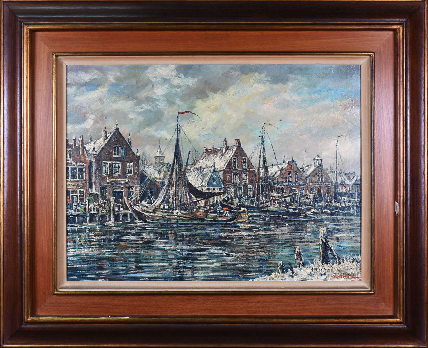 WIN VAN DIJK (1915 / 1990), URK no inverno, Holland -