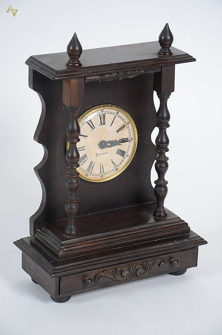 Relógio de mesa ZIMMERMANN com pequenas colunas torneadas a1ae9f994ce