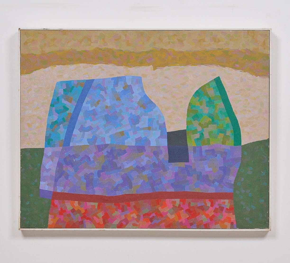 """José Maria Dias da Cruz (1935), Pássaro antes da tempestade"""", 2003 - Acrílica s/ tela<br>Ass. verso"""