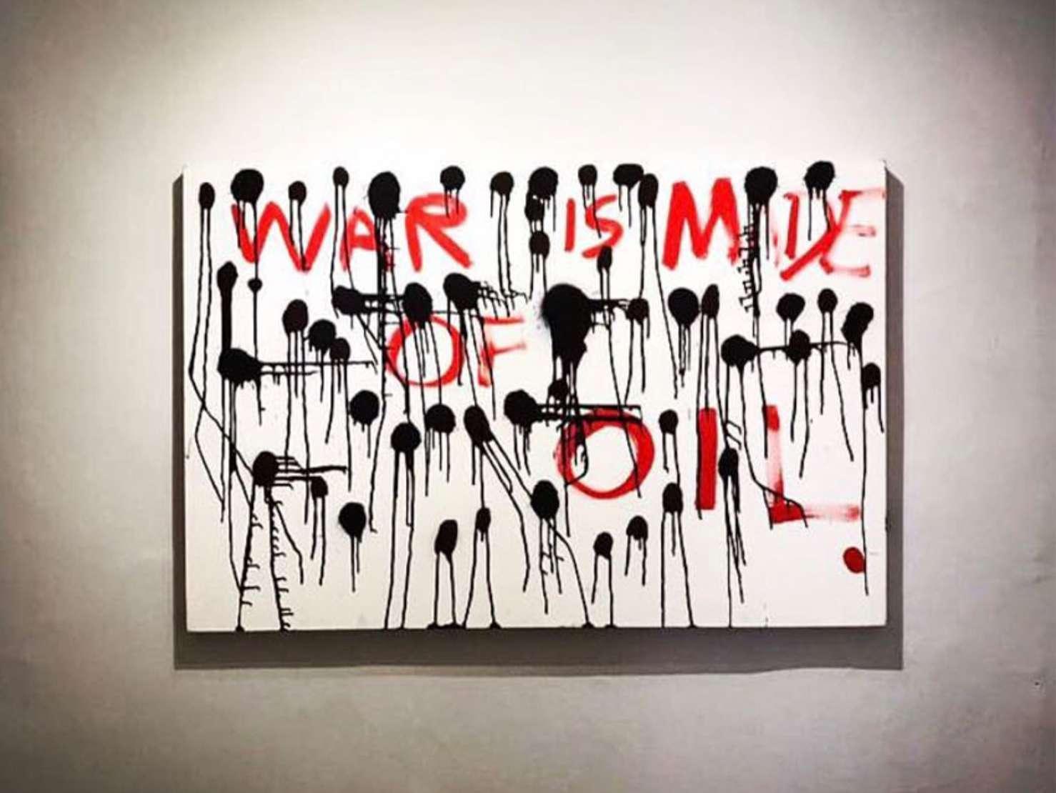 Tulio Dek (1985), Money - série Guerra,  2017 - Acrílica s/ tela<br>Ass. verso e datado<br>Apresenta selo da Galeria TNT