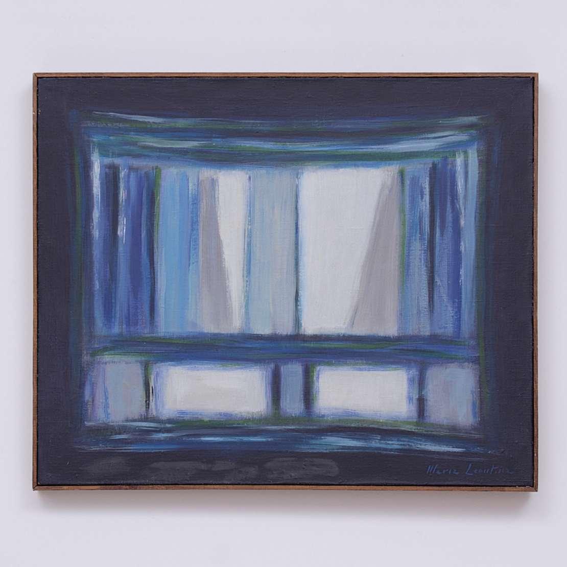 Maria Leontina (1917-1984), Sem Título, 1975 - Óleo s/ tela<br>Ass. inf. direito e verso<br>Participou da exposição individual da artista na Galeria Bergamin e Gomide em São Paulo em 2017