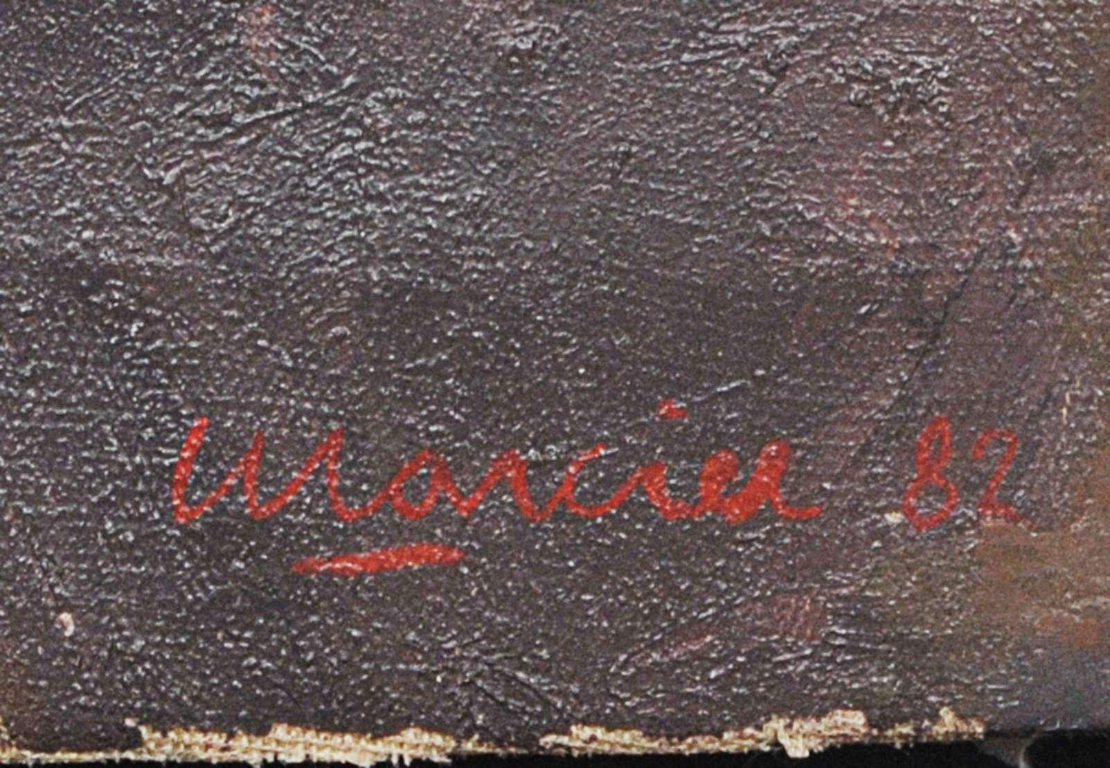Emeric Marcier (1916-1990), Cristo, 1982 - Oléo s/ tela<br>Ass. inf. direito<br>