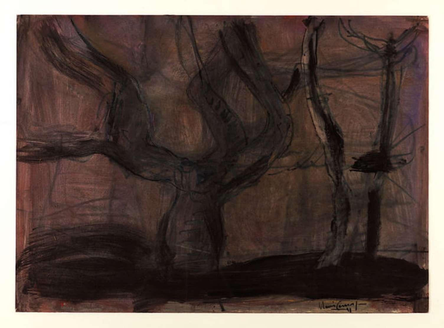 Iberê Camargo (1914-1994),  Árvore dos Pampas, 1971 - Técnica mista <br>Ass. Inf. direito<br>Catalogado pela Fundação Iberê Camargo<br>