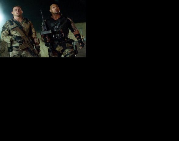 "Channing Tatum y Dwayne Johnson en ""G.I. Joe: El Contraataque"""