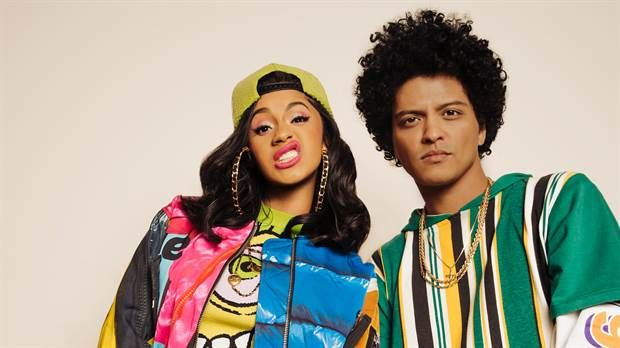Cardi B estrena video con Bruno Mars