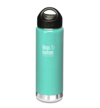 botella térmica verde agua