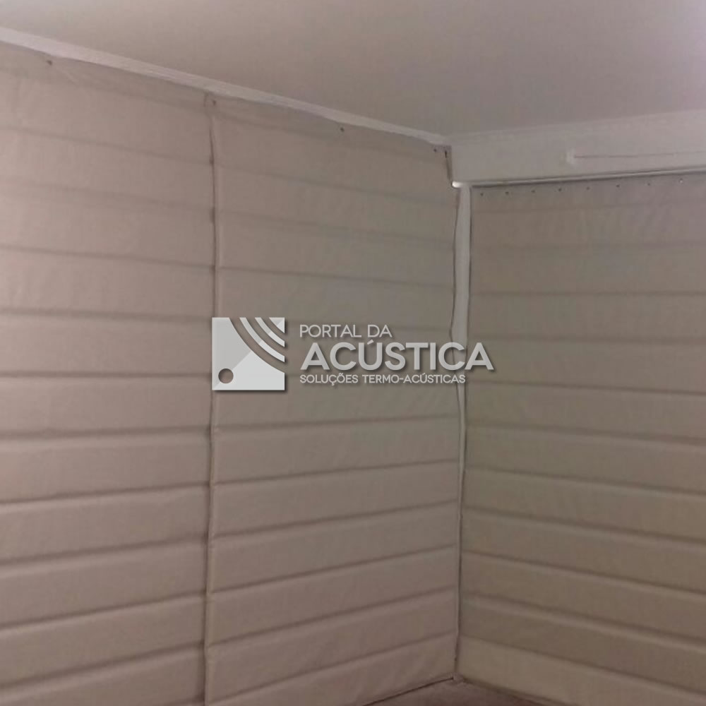 Cortina parede anti ruido t rmica venda por m branca - Tela termica para cortinas ...
