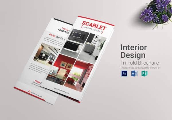 Brochura-TriFold Interior em Formato PSD
