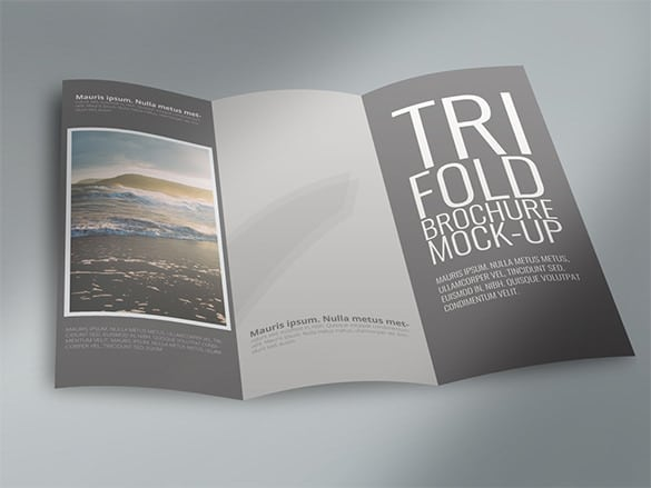Brochura Tri-Fold Template Up