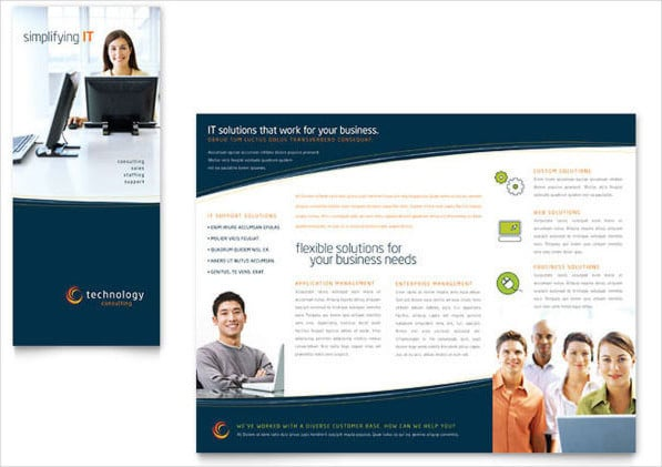 Modelo de Brochura Tri-fold Grátis