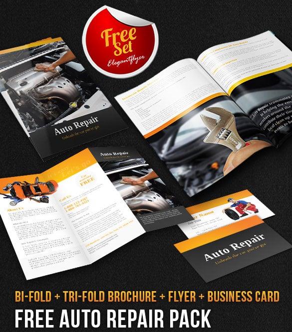 Pacote brochura de reparação automática Download grátis de modelo PSD