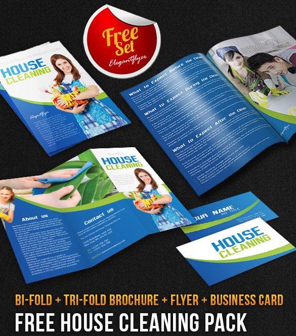 Pacote de brochura para limpeza doméstica Download gratuito de modelo PSD