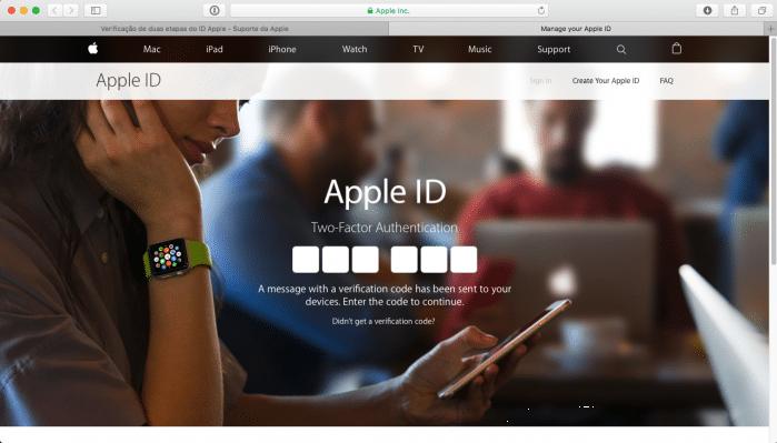 verificação apple