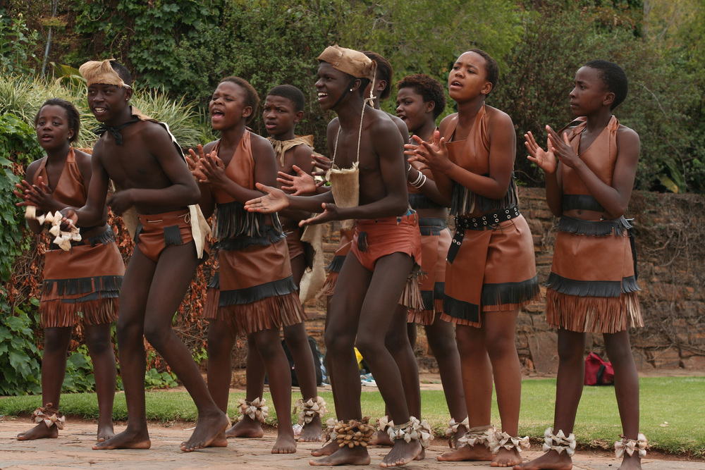 Africans doing tribal dance
