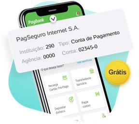 tela do celular mostrando o app pagbank