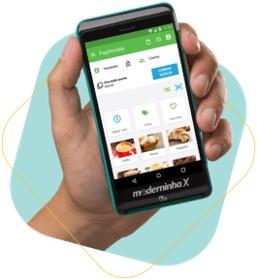 tela de um celular mostrando o app pagvendas