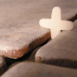 Foto de piso aguardando aplicação do rejunte