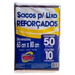SACO LIXO REDE KRILL REFORCADO 50L C/10un