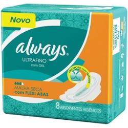 ABS.ALWAYS ULTRAFINO ACTIVE SECO C/ABAS 8un