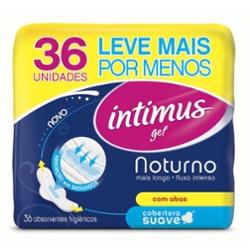 ABS.INTIMUS GEL C/ABAS SUAVE NOTURNO 36un