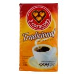 CAFE 3 CORACOES A VACUO TRAD.250g