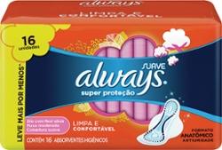 ABS.ALWAYS C/ABAS SUAVE SUPER PROT.16un