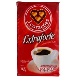 CAFE 3 CORACOES A VACUO EXTRA FORTE 250g