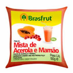 POLPA BRASFRUT ACEROLA C/MAMAO 100g