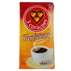 CAFE 3 CORACOES A VACUO TRAD.500g