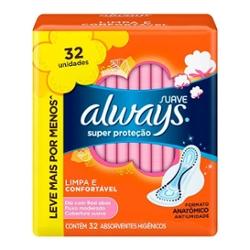 ABS.ALWAYS C/ABAS SUAVE SUPER PROT.32un