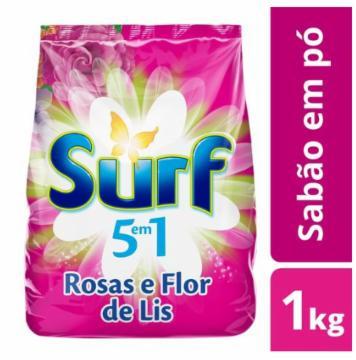 Lava Roupas Pó Surf 1Kg Rosas e Flor de Liz