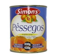 Pessego Calda Simons 430g Metades
