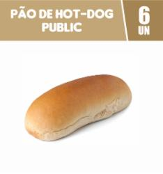 Pão de Hot Dog Public c/6 Embalados Individualmente