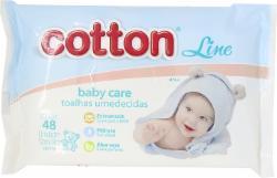 Toalha Umedecida Cotton Line com 50