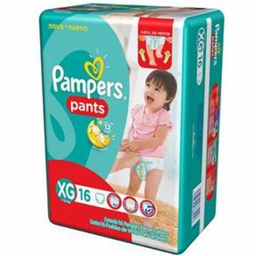 Fralda Pampers Pants Pacotao Xg com 16